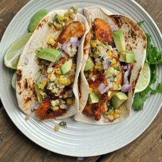 Mexican Street Corn Chicken Tacos + Weekly Menu