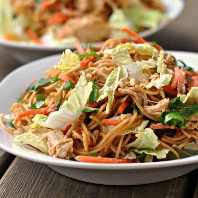 Thai Chicken Pasta Salad + Weekly Menu