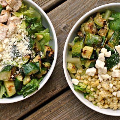 Grilled Summer Vegetable Chopped Salad