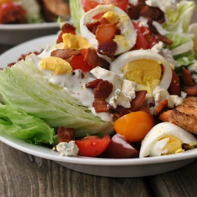 Loaded Wedge Salad with Grilled Salmon