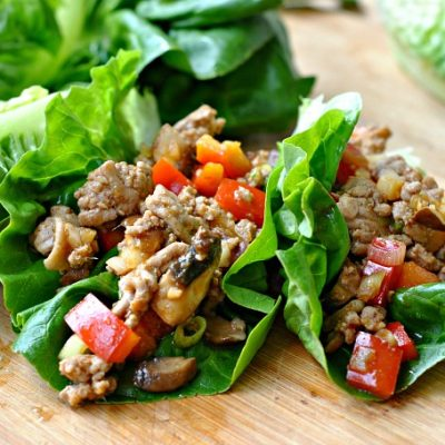 Sweet and Spicy Lettuce Wraps + Weekly Menu