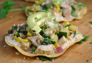 Chicken Summer Vegetable Tostadas + Weekly Menu