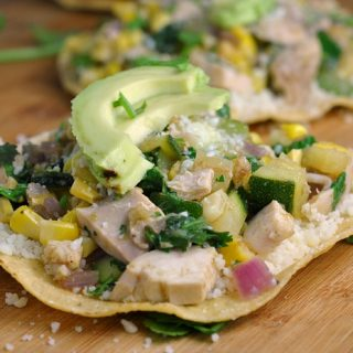 Chicken Summer Vegetable Tostadas + Weekly Menu