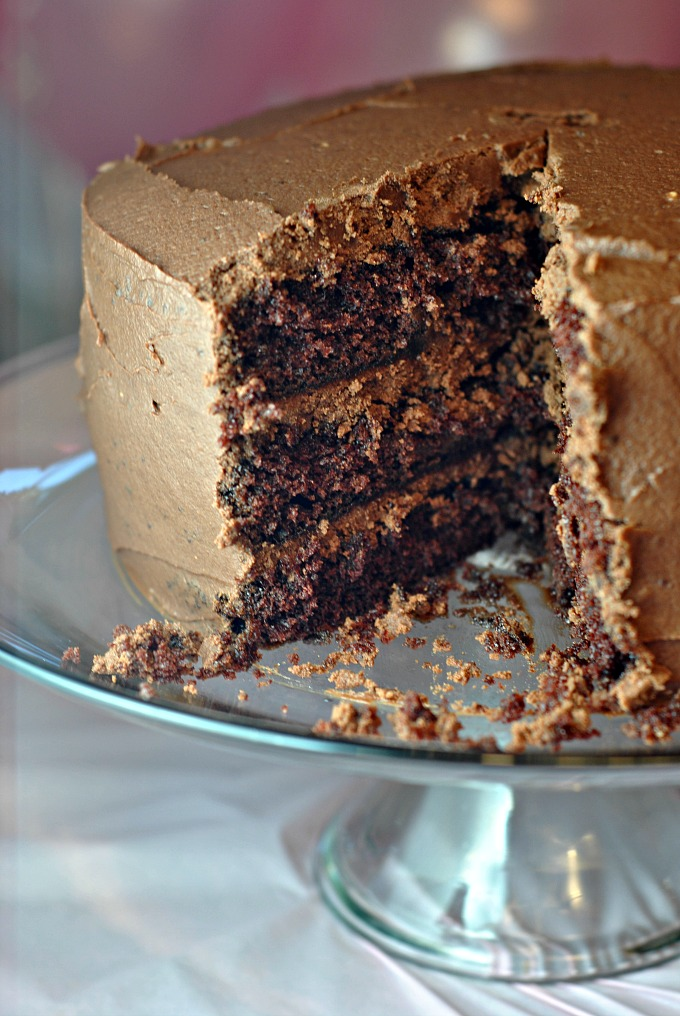Layered Chocolate Cake with Chocolate Buttercream Frosting Weekly Menu