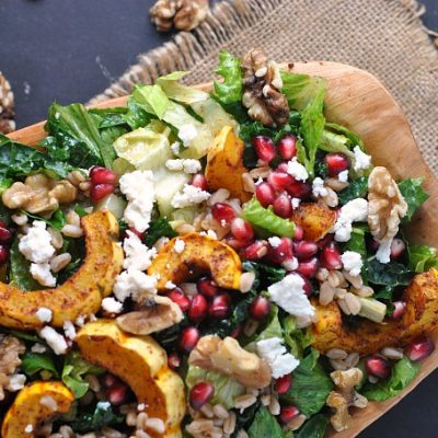 Autumn Harvest Salad with Pomegranate