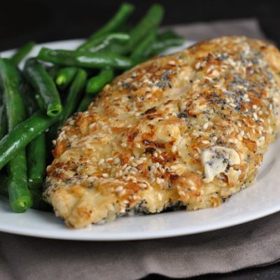 Cream Cheese-Stuffed Everything Bagel Chicken + Weekly Menu