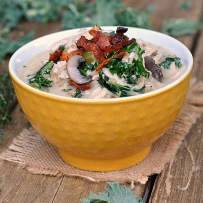 Creamy Chicken and Wild Rice Soup + Weekly Menu