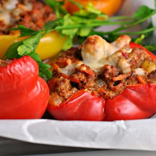Bolognese-Stuffed Peppers + Weekly Menu