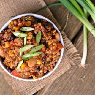 8th Annual Chili Contest: Entry #5 – Three-Bean Vegetarian Chili + Weekly Menu