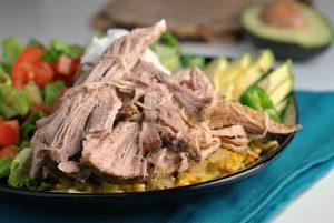 Crock Pot Carnitas {Whole30, Paleo} + Weekly Menu