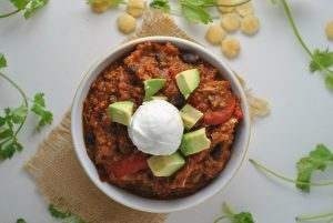 Black Bean Quinoa Pumpkin Chili + Weekly Menu