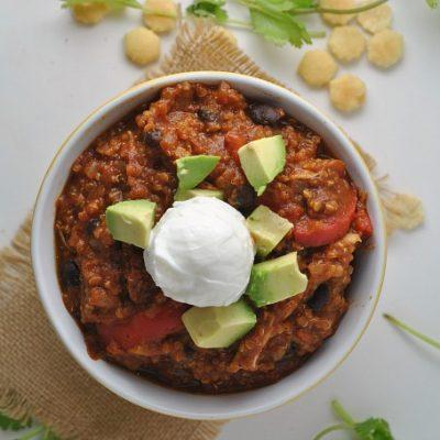Black Bean Quinoa Pumpkin Chili + Weekly Menu