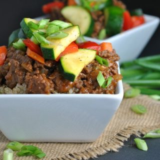 Korean Beef Bowls with Veggies