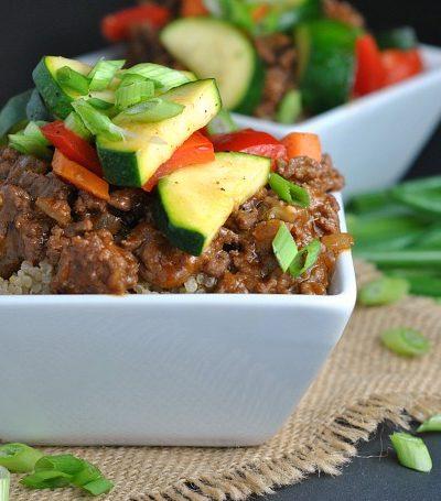 Korean Beef Bowls with Veggies
