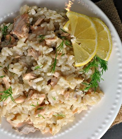 Salmon, Dill, and Lemon Risotto