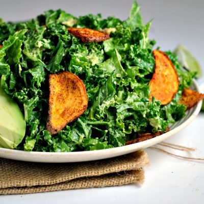 Kale, Sweet Potato, & Avocado Salad