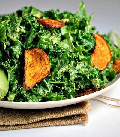 Kale, Sweet Potato, & Avocado Salad