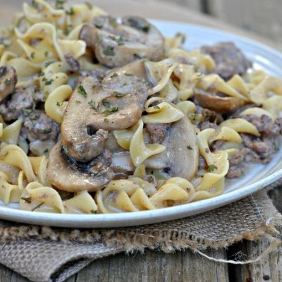 Beef Stroganoff – Hamburger Helper Style {but better!}