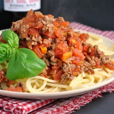 Italian Bolognese Sauce {Slow Cooker}