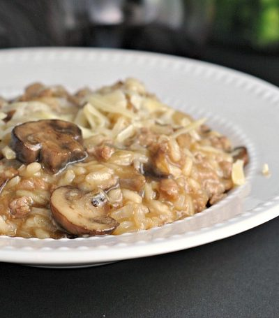 French Onion Risotto + Weekly Menu