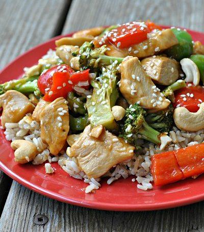 Cashew Chicken Sheet Pan Meal + Weekly Menu