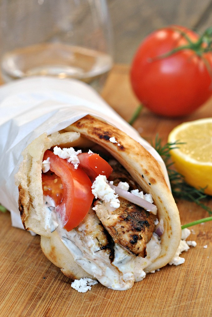Easy Chicken Gyros With Tzatziki Sauce Prevention Rd