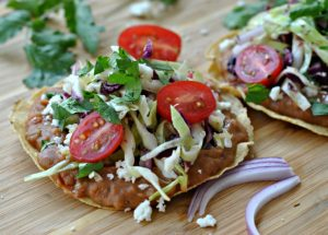 Superfast Bean Tostadas with Cabbage Slaw + Weekly Menu