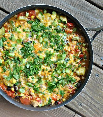 Tex Mex Chicken and Zucchini Skillet + Weekly Menu