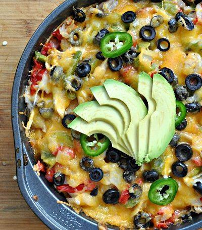 Chicken and Cheese Tortilla Pie + Weekly Menu