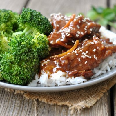 Easy Slow Cooker Mongolian Beef + Weekly Menu