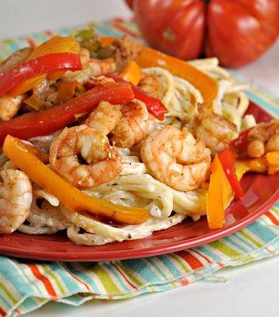 Healthy-ish Cajun Shrimp Alfredo