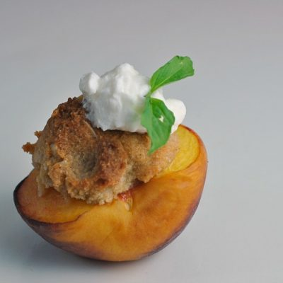 Shortcut Peach-Almond Crisp