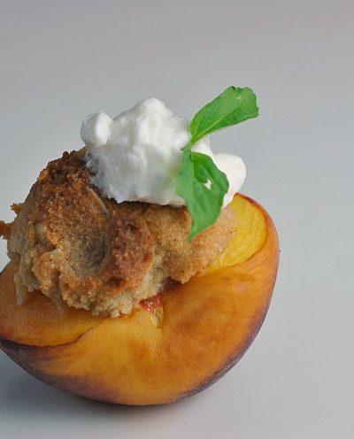 Shortcut Peach-Almond Crisp