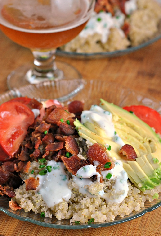 Bacon And Avocado Quinoa Bowl With Buttermilk Chive Drizzle Weekly