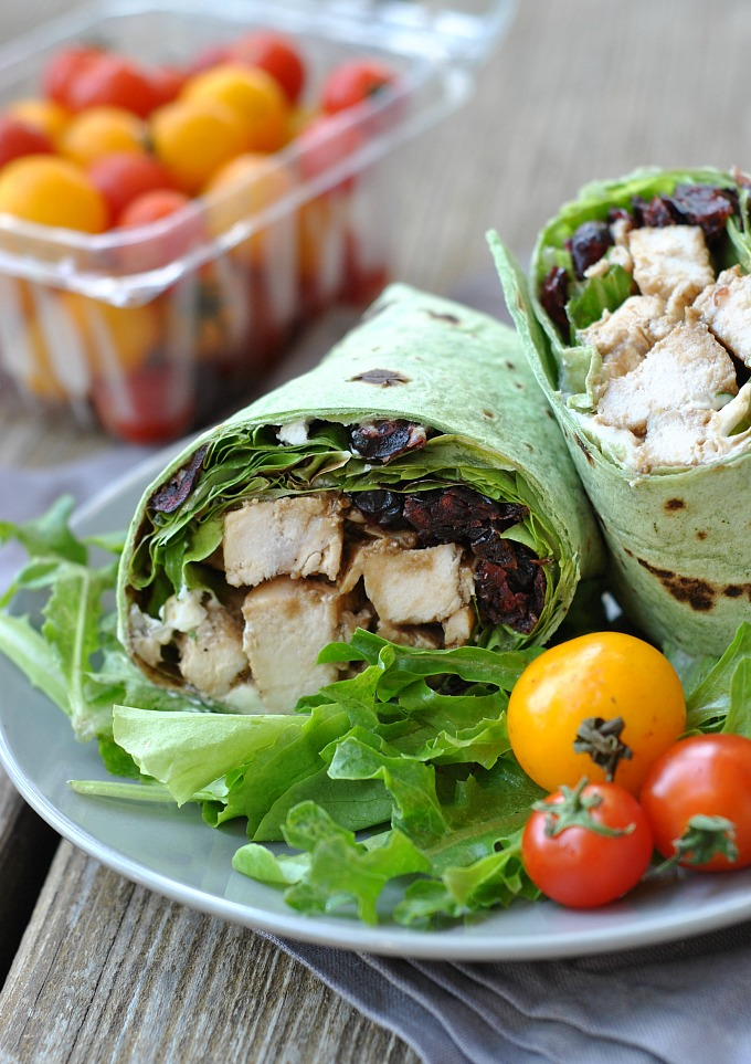 Balsamic Chicken Goat Cheese Wraps Weekly Menu