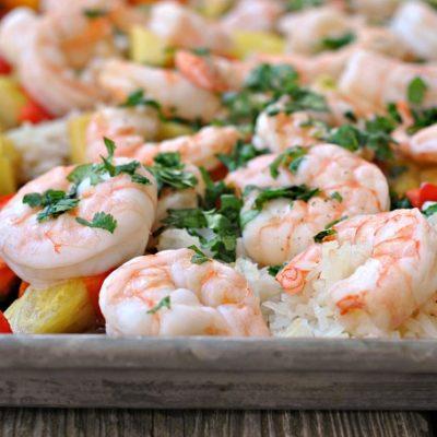 Sheet Pan Hawaiian Shrimp