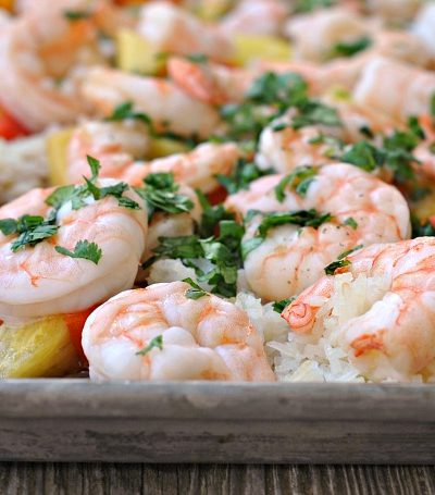 Sheet Pan Hawaiian Shrimp