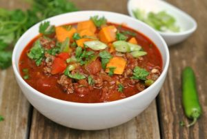 9th Annual Chili Contest: Entry #3 – Whole30 Beef and Sweet Potato Chili + Weekly Menu