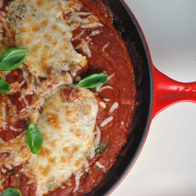 Chicken with Pepperoni-Marinara Sauce + Weekly Menu