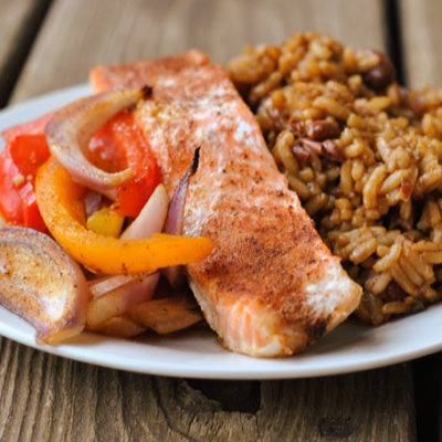 Cajun Baked Salmon + Weekly Menu
