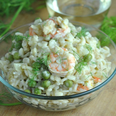 Shrimp and Barley Risotto + Weekly Menu