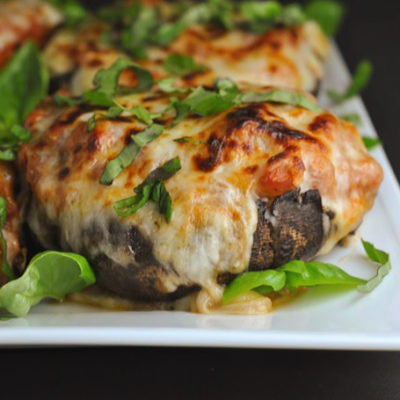 Turkey Sausage-Stuffed Portobellos + Weekly Menu