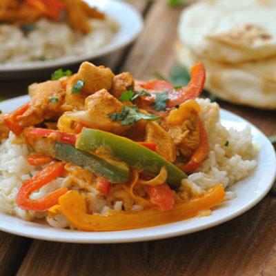 Coconut Curry Chicken + Weekly Menu
