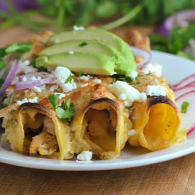 Chicken and Cheese Enchiladas + Weekly Menu