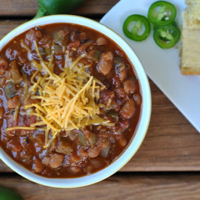 10th Annual Chili Contest: Entry #1 – Red Chili {Vegan} + Weekly Menu
