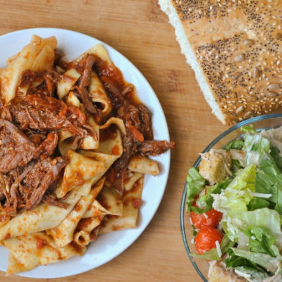 Slow Cooker Beef Ragu with Pappardelle + Weekly Menu