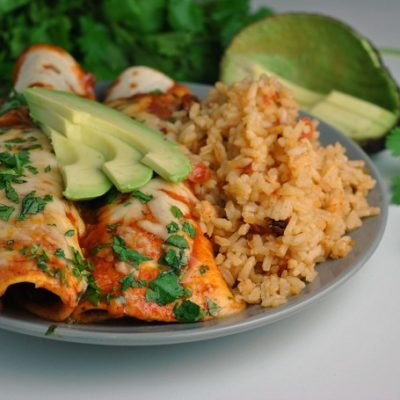 Easy Vegetable Enchiladas + Weekly Menu
