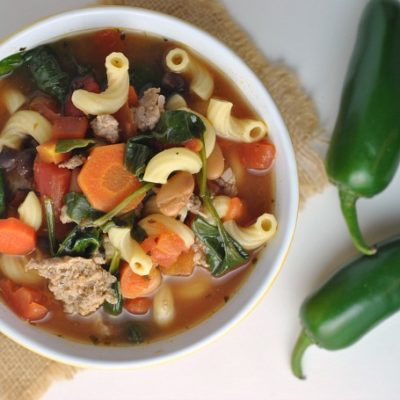 Zesty Italian Soup + Weekly Menu