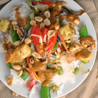 Thai Tofu-Veggie Bowls + Weekly Menu