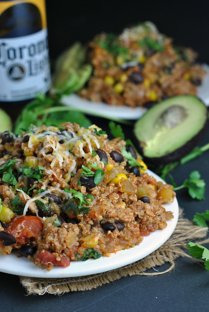 Turkey Taco Quinoa Skillet via @preventionrd